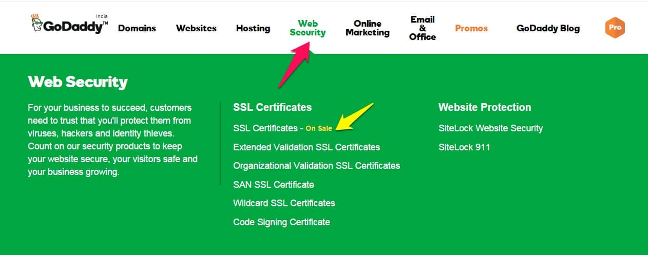 Godaddy selling SSL Certificate