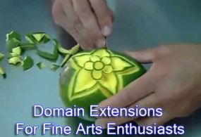 Domain extensions for fine arts enthusiasts