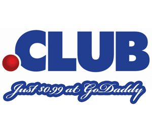 Start Your .CLUB Domain Just $6.25 at GoDaddy