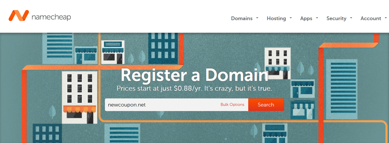 Namecheap Crazy Sale – Domain Names at Just $0.88Year