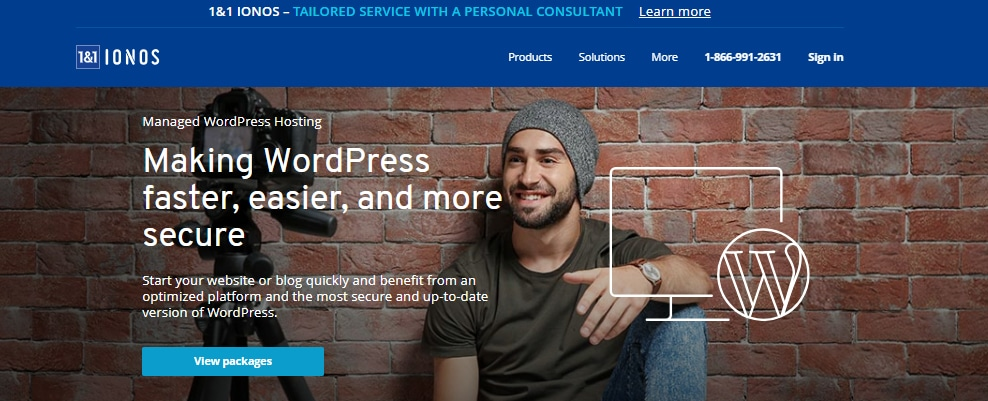 1&1 IONOS WordPress Hosting just 99 cent + 01 domain free