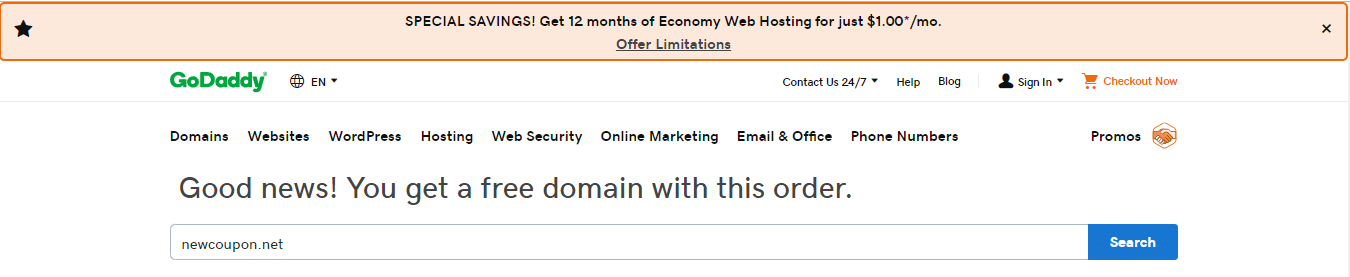 Pick Your Free Domain