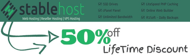 StableHost web hosting coupons