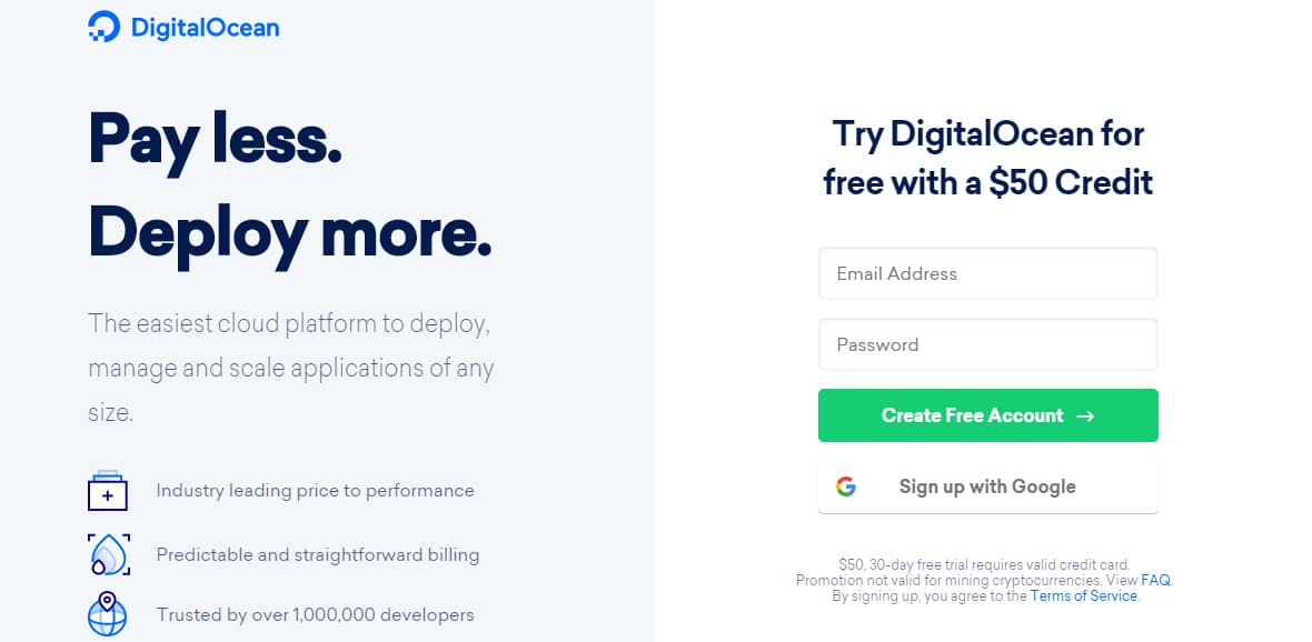 DigitalOcean Promo Codes August 2019 – Get Up to $50 Free Credit