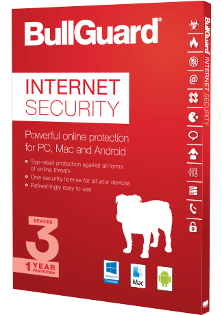 BullGuard® Internet Security 1-Year / 3 Devices Subscription