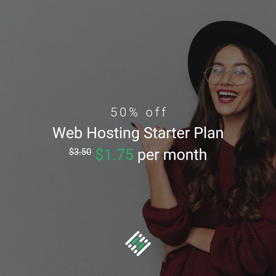 50% off on all Shared Hosting Plans