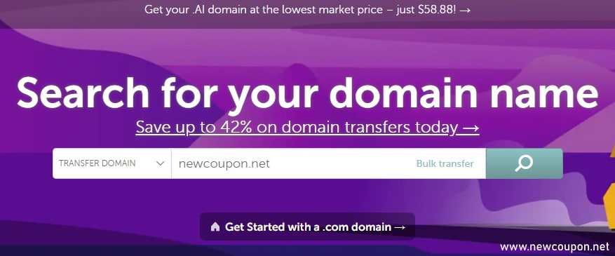 NameCheap Transfer Domain Coupons .COMNET only $6.88